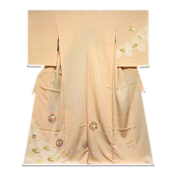 【手縫い仕立て付き フルオーダー】雪輪柄 金駒刺繍 金彩加工 訪問着