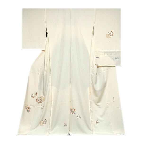【訳あり】お好きなお色に染めて…寿光織 「慶賀の香り」 縫い取り 白生地 訪問着