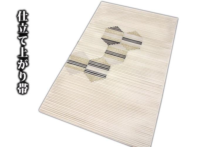 「正絹」 夏物 絽綴れ オシャレ 平仕立て 仕立て上がり 八寸 名古屋帯