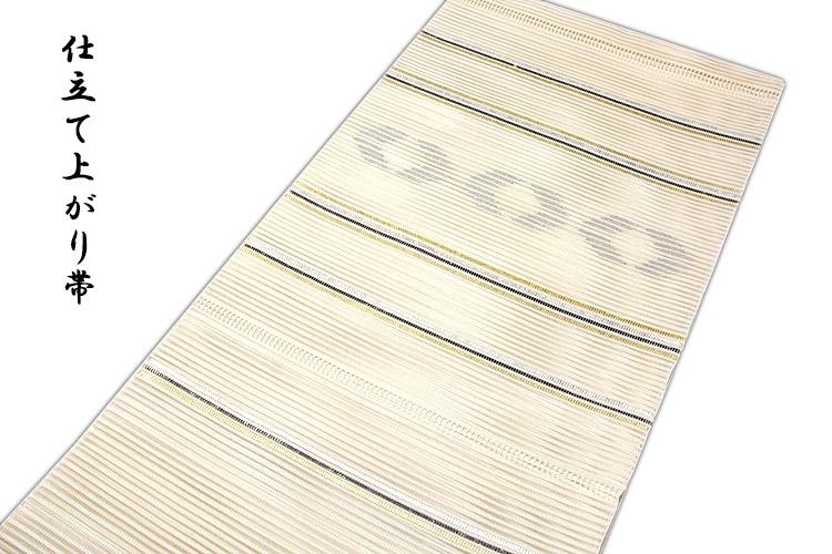 「正絹」 夏物 絽綴れ オシャレ 夏かがり トンネル仕立て 仕立て上がり 八寸 名古屋帯