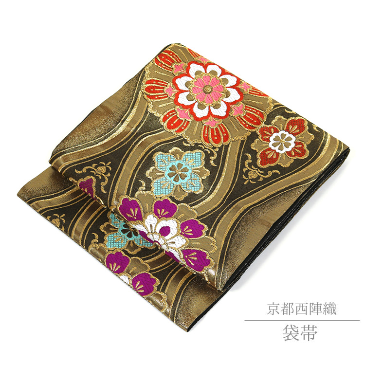 袋帯 振袖 訪問着 礼装 京都西陣織 帯 仕立て上がり 70048