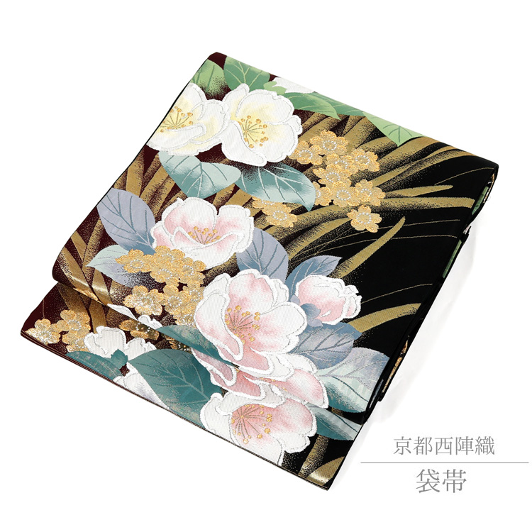 【袋帯】振袖 訪問着 着物 京都 西陣織 帯 仕立て上がり 袋帯 正絹 70053