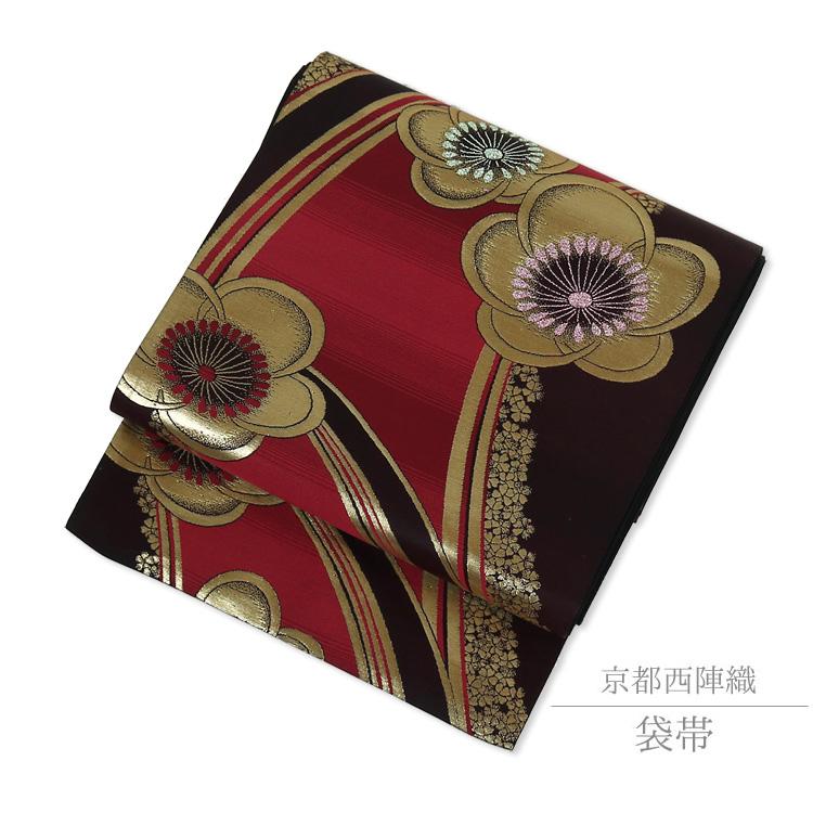 【袋帯】振袖 訪問着 着物 京都 西陣織 帯 仕立て上がり 袋帯 正絹 70054