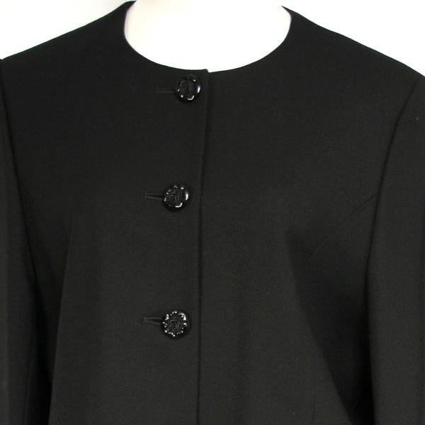 【ウールブラックフォーマル/喪服/礼服】W482(15号)ウール:京都スタイル