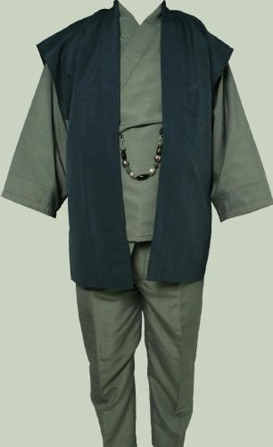 【京都祇園 一粋庵】男物お洒落 和装スーツ 紳士 着物 袴パンツ セミオーダー【smtb-k】【ky】
