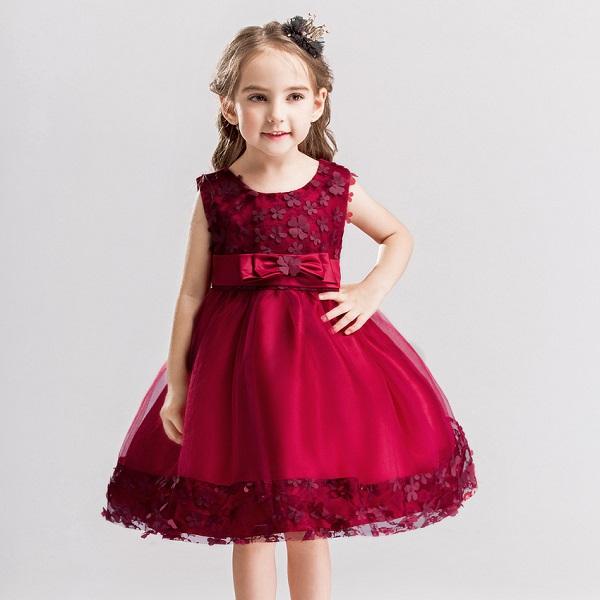 d793bf8846fcb 素敵なドレス子供ドレスピアノ発表会プリントドレス女の子二次会花嫁ジュニア結婚式