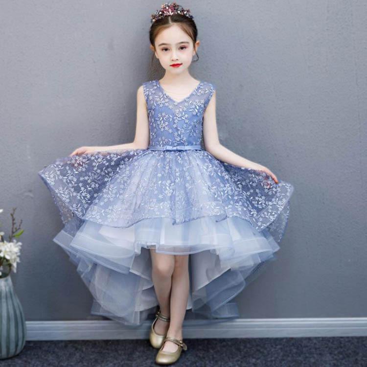 3色!新着 子供ドレス ピアノ発表会 ジュニアドレス ふんわりチュール 演奏会 結婚式 キッズ こども コンクール 子供服 女の子 ブルー ピンク ライトピンク