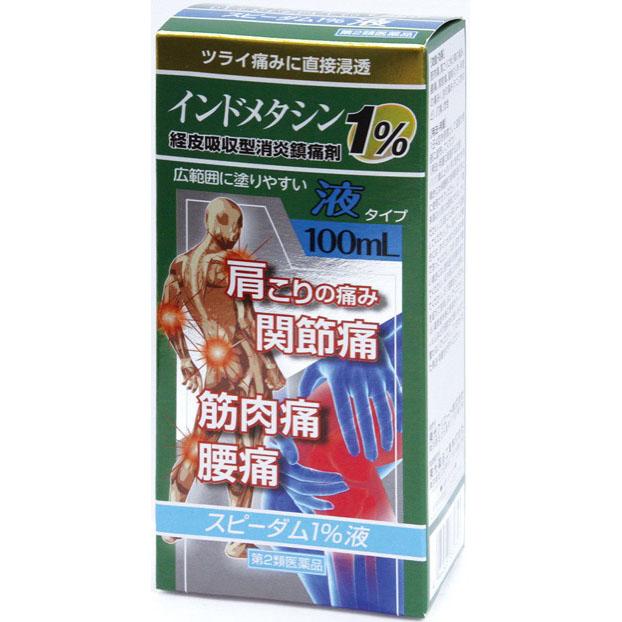 ツライ痛みに直接浸透 第2類医薬品 スピーダム1% 日本全国 送料無料 卓出 セルフメディケーション税制対象商品 100ml 液