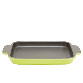 Square (L) lettuce green [toaster Pan won't crack go to Ovenware the star  dish Teflon radiance regular product UMIC ursiyama metal co , Ltd ]