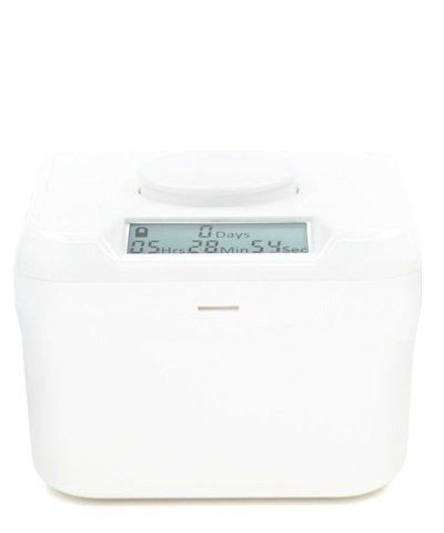 送料無料 Kitchen チープ 4年保証 Safe MiniTimeロックコンテナ ホワイトベース ホワイト蓋