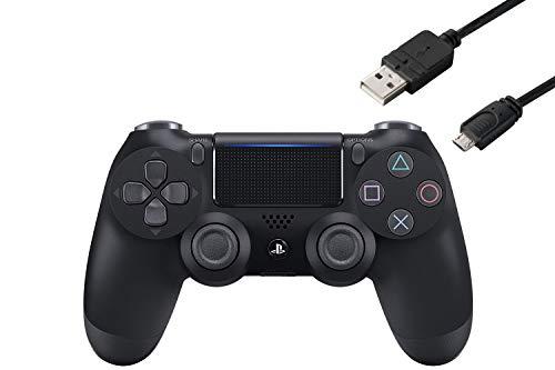 即納 ワイヤレスコントローラー DUALSHOCK 4 新品未使用 ジェット BB CYBER ブラック 期間限定で特別価格 PS4用コントローラー充電ケーブル3m付