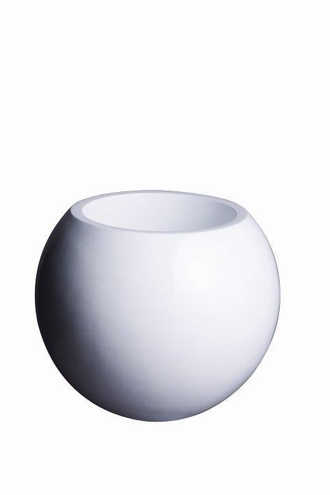 ファイバーグラス プラネット P47型 プランター おしゃれ カラー(A)ホワイトのみ対応 サイズ(φ47cm 高さ38cm)内寸タテ・高さとも29cm 容量 18リットル 対応鉢サイズ 8号鉢 送料無料:本州・四国・九州地区限定