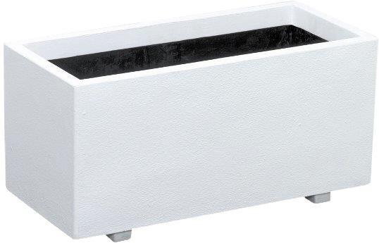 ホワイトプランタ W70型 プランター おしゃれ カラー(A)ホワイト サイズ タテ31cm ヨコ70cm 高さ32cm 容量 60リットル 対応鉢サイズ 7号鉢x3個 送料無料:本州・四国・九州地区限定