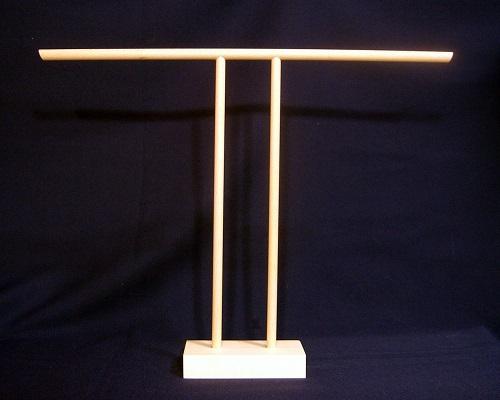 流行のアイテム 小ロット手作り衣桁 いこう 製造販売 T字衣桁H35cmW45cm メーカー公式 ミニチュア着物用ミニ衣桁
