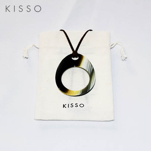 キッソオ ルーペ EGA-386 ボーン メガネ素材のペンダントルーペ 鯖江 KISSO
