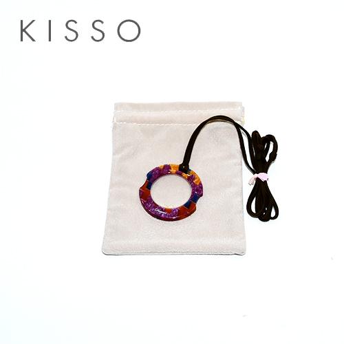 キッソオ ルーペ KOC-W46 パープルブルーミックス メガネ素材のペンダントルーペ 鯖江 KISSO