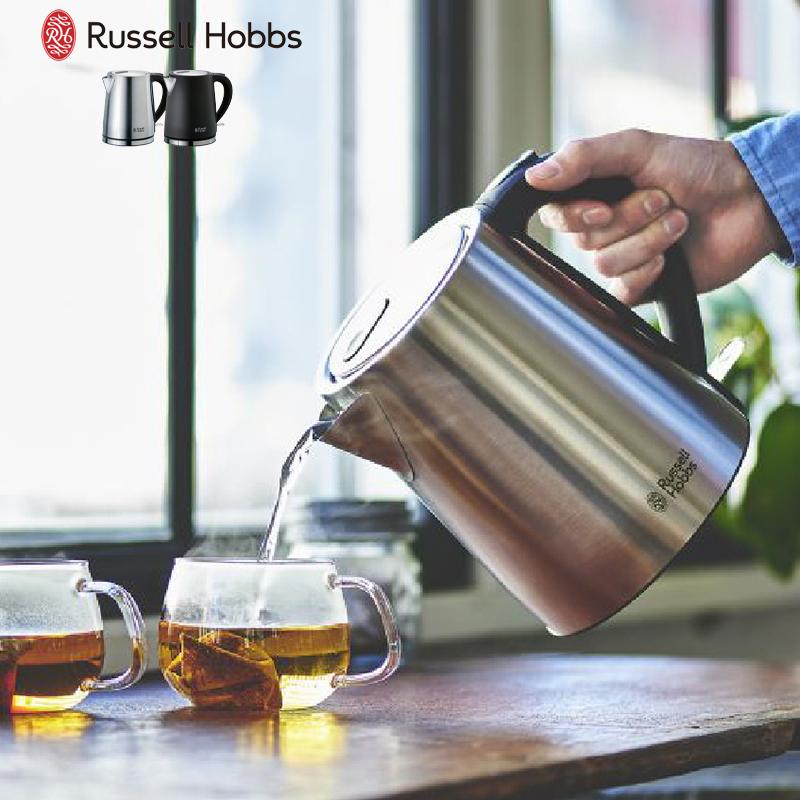 使い心地もデザインもシンプルに ラッセルホブス ベーシックケトル 電気ケトル 祝日 Hobbs 1L Russell 1着でも送料無料 電気湯沸かし器