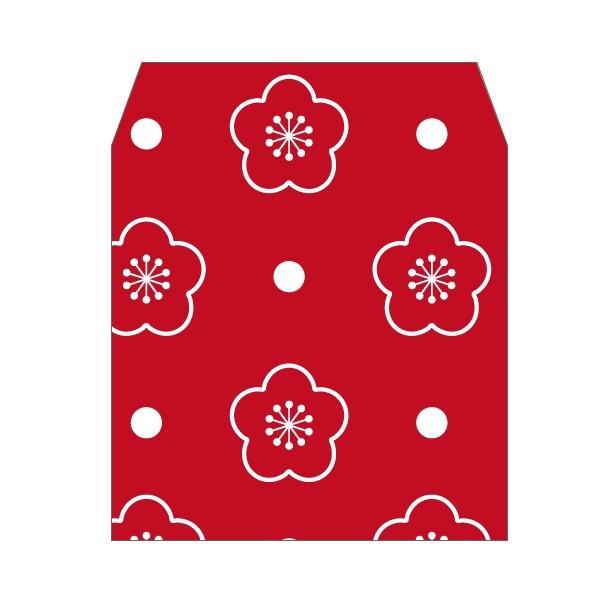 みずたま梅 赤 コイン用ポチ袋 全店販売中 小 お年玉袋 5枚セット ぽち袋 年間定番 おしゃれでかわいい多目的祝儀袋