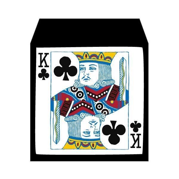爆売りセール開催中 トランプ 記念日 クラブのキング コイン用ポチ袋 小 お年玉袋 おしゃれでかわいい多目的祝儀袋 5枚セット ぽち袋