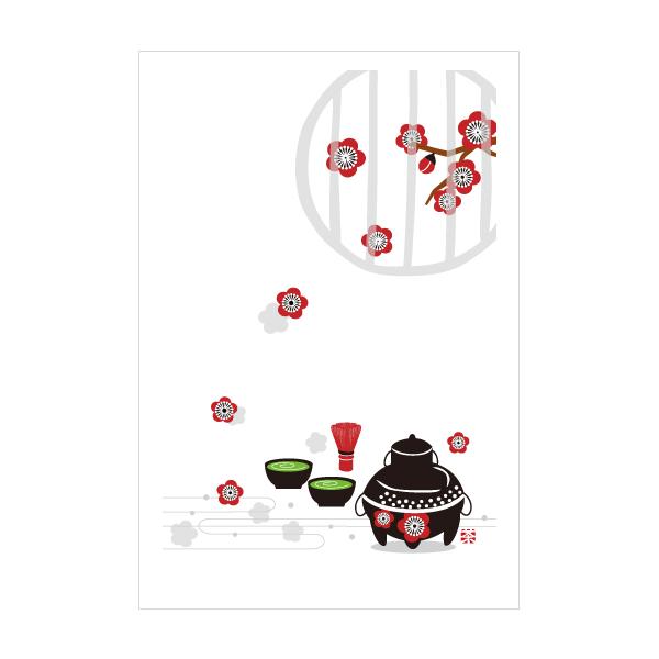抹茶 お茶 梅 おしゃれでかわいい京都かみんぐ限定ポストカードアート 3枚セット 本日の目玉 ポストカード 新着