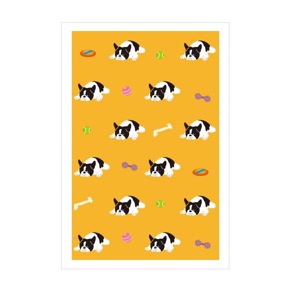 選択 フレンチブルドッグ オレンジ 新色追加して再販 犬 3枚セット おしゃれでかわいい京都かみんぐ限定ポストカードアート ポストカード