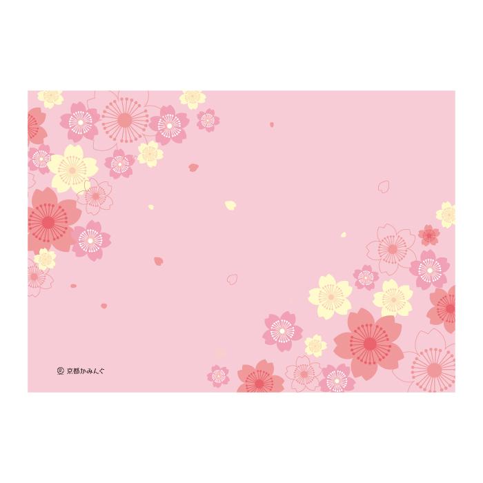 ふわふわ桜(和風)【ロゴ・名入れ可】業務用ペーパーランチョンマット使い捨て敷紙 700枚