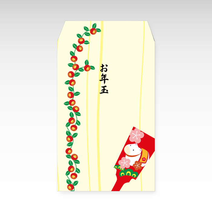 2021年お年玉袋 羽子板 ☆送料無料☆ 当日発送可能 公式 小 和紙製ポチ袋 3枚