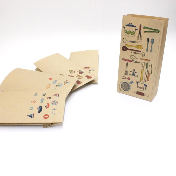 【キッチン用品(料理・食器)】紙袋 大/500枚入り【クラフト紙製】 おしゃれでかわいいペーパーバッグ・角底