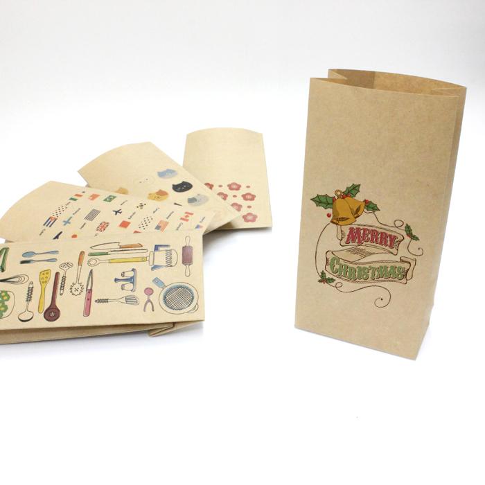 ランキングTOP5 クリスマス 紙袋 世界の人気ブランド 小 1000枚入り おしゃれでかわいいペーパーバッグ クラフト紙製 角底