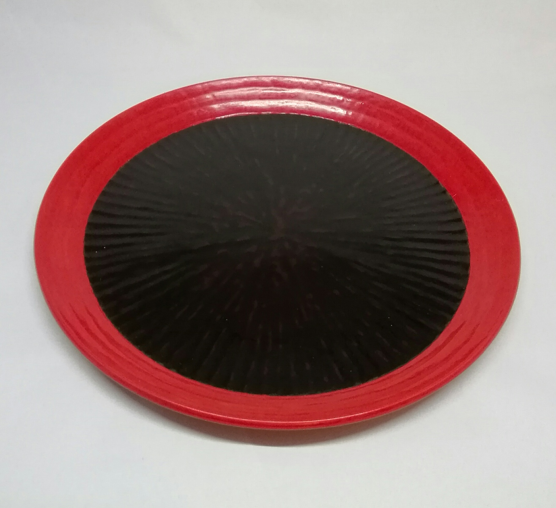 鎌倉彫 干菓子器 八方刀痕 了和写桐箱入