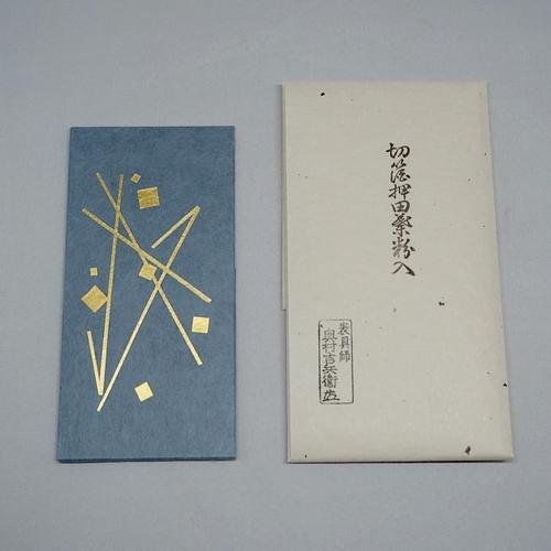 切箔 田葉粉(たばこ)入 (莨タトウ) 青ロウケツ
