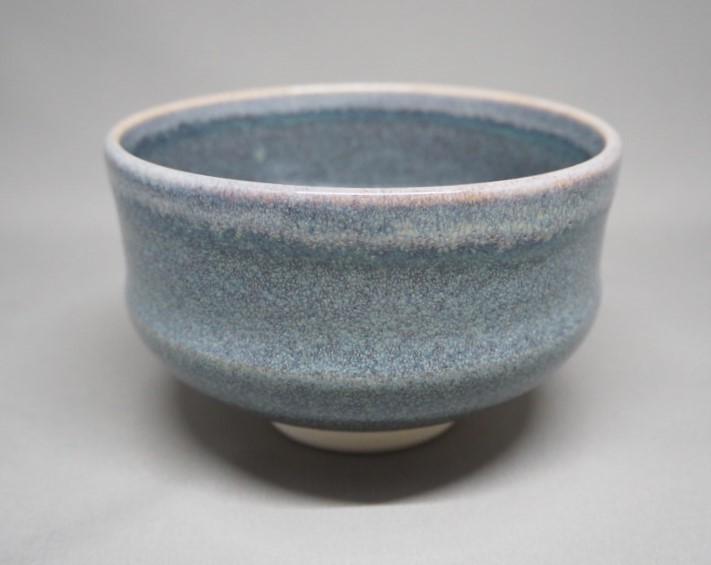 まとめ買い特価 林山窯 京焼 化粧箱入 鼠釉白掛茶碗 日本製
