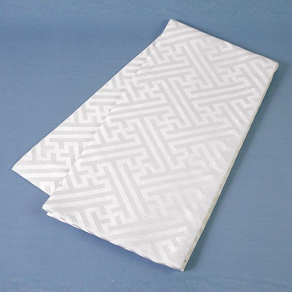 【掛下帯】交織 白 サヤ型 綿芯【結婚式 婚礼 和装ウエディング】【送料無料】
