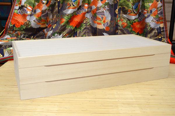 着物 収納ケース 印籠蓋 桐衣装ケース 総桐 2段 桐箱 着物用 静岡県産 桐たんす 関東~九州送料無料