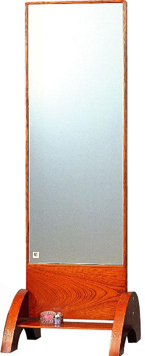 静岡県産幅54cm 一面鏡 全身ミラー 棚付 ケヤキ 国産品【送料無料】 【smtb-k】 【ky】 【家具】【京都-市やま家具】