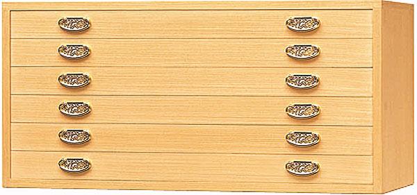 静岡県産整理総桐箪笥国産品とのこ仕上げ102.5cm幅浅6段上置き用金取っ手上置きFK-33【送料無料】【桐タンス 桐たんす 桐箪笥】 【smtb-k】 【ky】 【家具】【京都-市やま家具】 桐ダンス