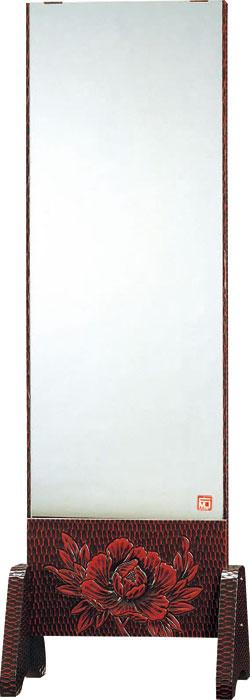 静岡県産幅54cm 一面鏡 姿見 全身ミラー 鎌倉彫 上彫 FK-159 国産品【送料無料】 【smtb-k】 【ky】 【家具】【05P01Oct16】