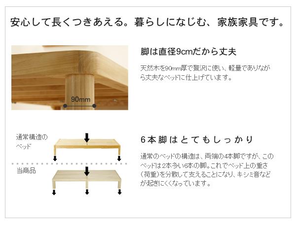 広島県産ベッド桐すのこベッドシングル