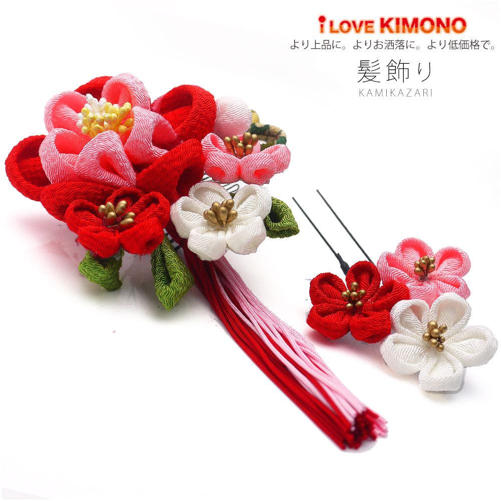 bcf35fa12 ... ceremony hakama yukata Seven-Five-Three Festival dress kimono hair  accessories flower red white wine in Japanese dress   Rakuten Global Market
