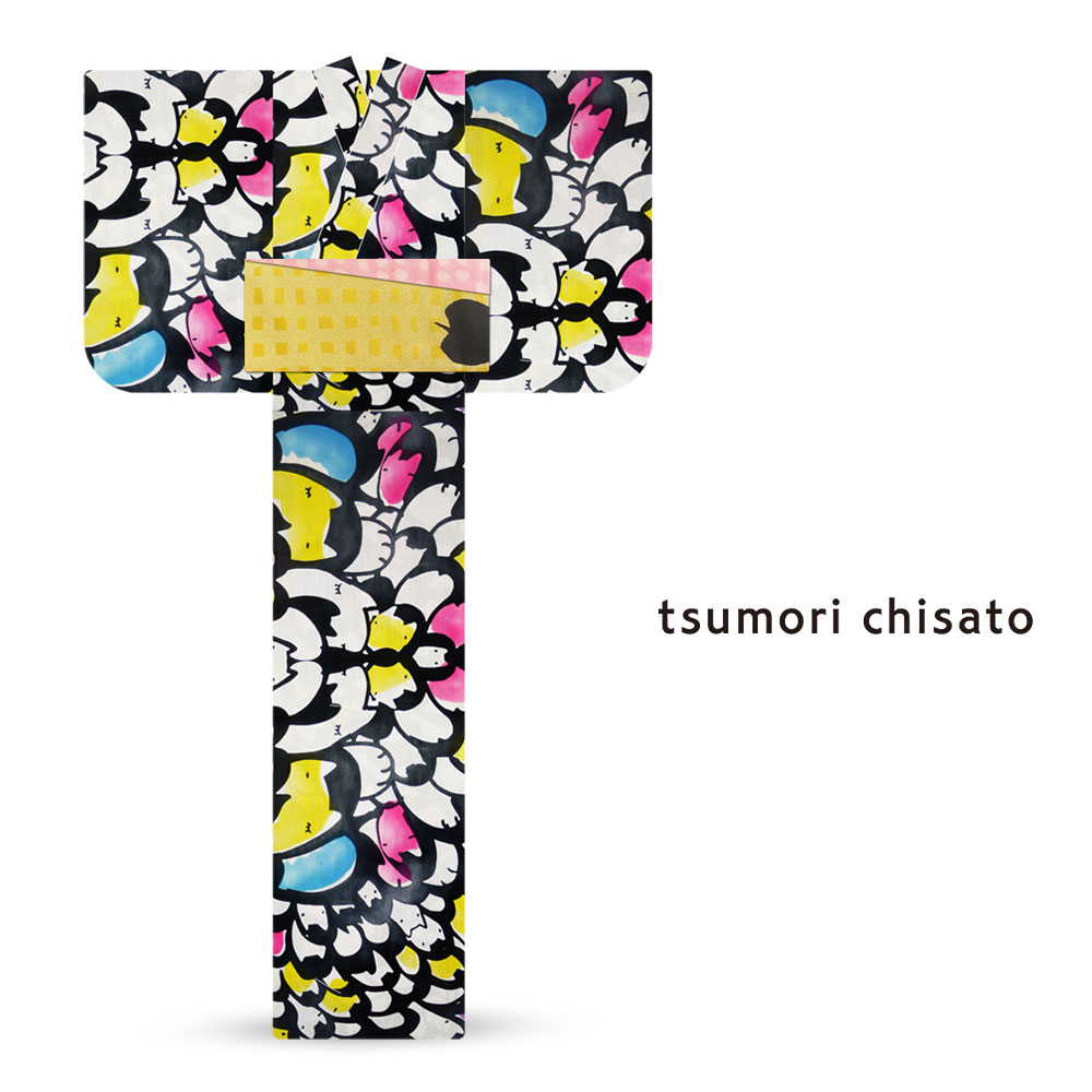 「tsumori chisato/ツモリチサト」ブランド レディース 浴衣  オプション多数 花火大会 夕涼み会 夏祭り【ネコ 猫 カラフル】【6t-3】