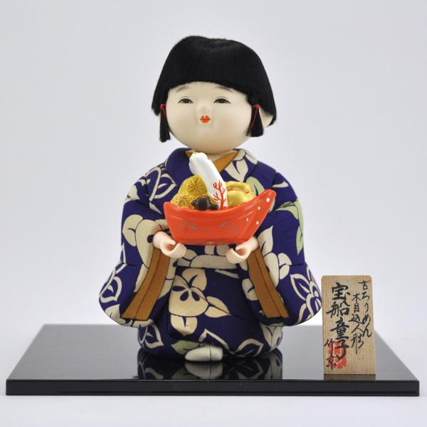 宝船童子・木目込み人形【京都くろちく和雑貨】木目込人形【楽ギフ_のし】