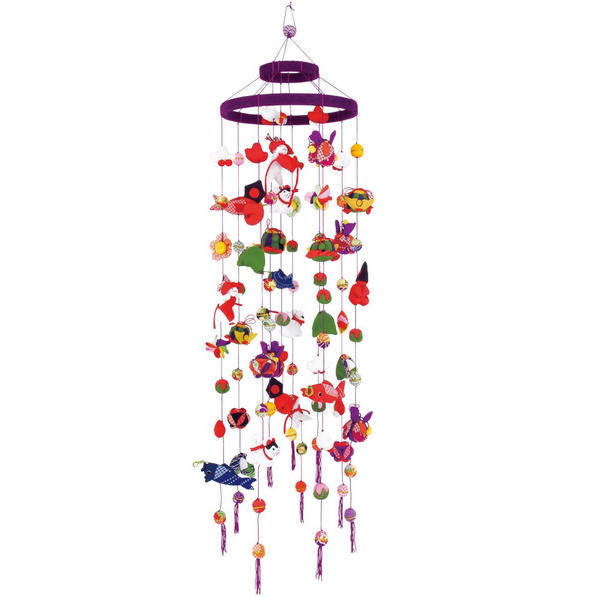 端午 二重飾り・下げ飾り【京都くろちく和雑貨】吊るし飾り【楽ギフ_のし】