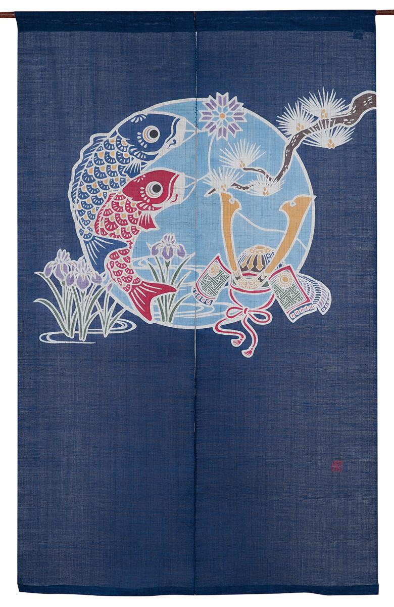 筒描のれん150・栄華【京都くろちく和雑貨】暖簾【楽ギフ_のし】