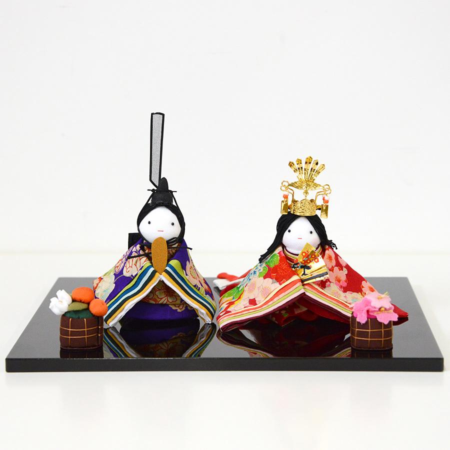 平安雛・古布細工・京都くろちくオリジナル和雑貨【楽ギフ_のし】雛人形
