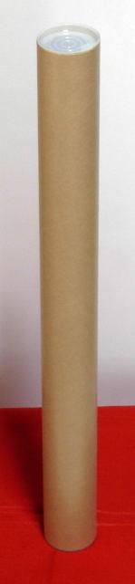 10本×@115円 A3用ポスター筒 プラスチックキャップ付き 51x330mm【紙筒 紙管 ケース 梱包資材 発送 カレンダー】