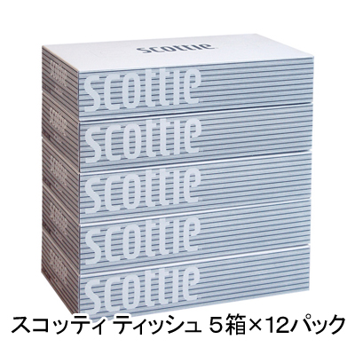 Scotty tissue paper 200 pairs 5 boxes x 12 Pack 1 pack per 00175 309 yen (tax excluded)