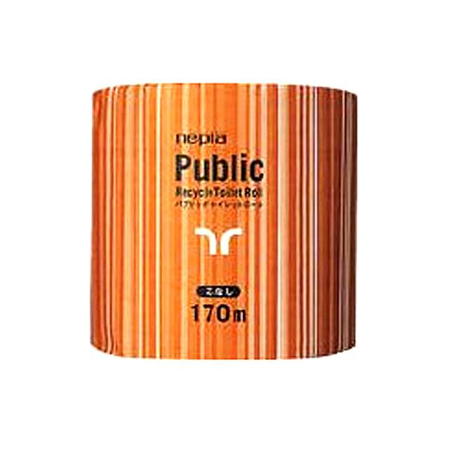 【法人・企業様限定販売】●代引き不可 送料無料 ネピア パブリック 1ロール 170m 芯なし 1ロール ×48コ入×10ケース 業務用品 73604