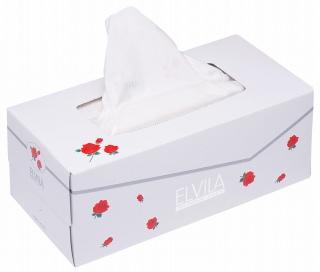 ボックスティッシュペーパー 花柄プリントあり 在庫あり ティシュペーパー ボックス まとめ買いで激安 送料無料 四国特紙 ELVILA 豪華な ティッシュペーパー まとめ買い 200組×10箱 エルビラ 00168