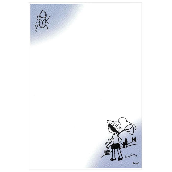 日本の名品を絵はがきでお届け 夏 クワガタ 夏休み 暑中見舞 DM便可 谷内六郎-2 絵はがき〈虫取り カット集 谷内 〉 日本 六郎筆 迅速な対応で商品をお届け致します