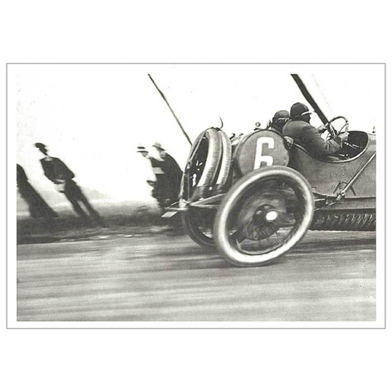海外の名品を絵はがきでお届け DM便可 コロタイプポストカード 超定番 ジャック=アンリ ラルティーグ 〈レーシングカー ドラージュ ル A.C.Fグランプリ 1912年6月26日〉 出色 トレボー